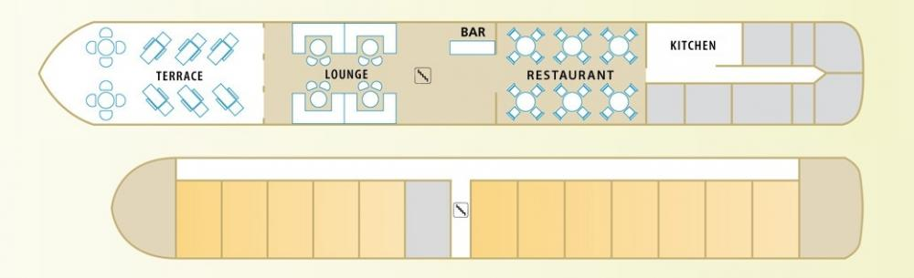 Deck plans of the MS Jeanine