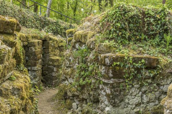 German trench ruins in Vauquois France