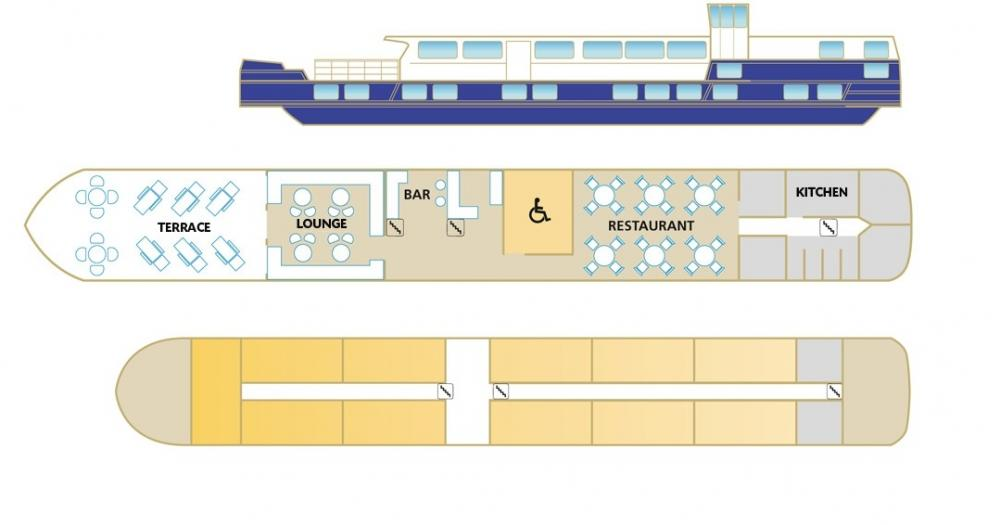 Deck plans of the MS Raymonde