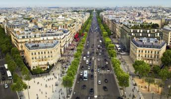 Wander the stretching Champs de Elysees as you tour Paris