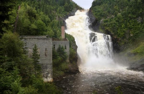 Val-Jalbert Waterfalls in Saguenay