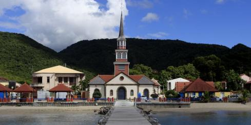 Anses d'Arlet village, Martinique, West Indies