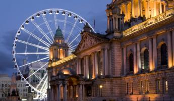 Belfast City Hall and Ferris Wheel
