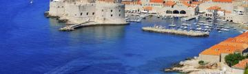 Mediterranean blue Dubrovnik from above