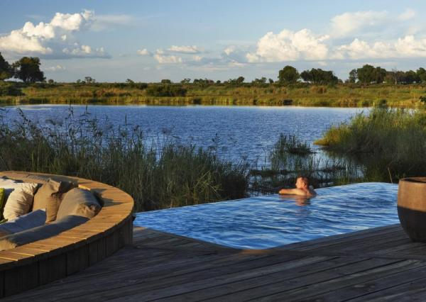 Your private plunge pool overlooks the delta
