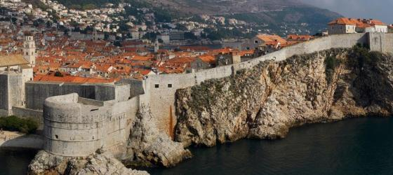 The ancient fortress walls of Dubrovnik