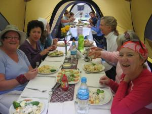Inca Trail Luxury meals