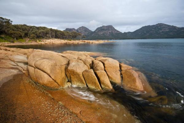 Impressive rocks on Coles Bay, Tasmania