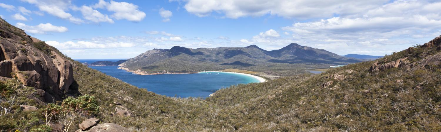 Wineglass Bay in Tasmania