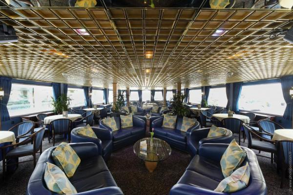 Keep yourself entertained in the lounge of the MS Renoir