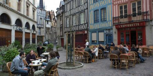 Wander the cobbled streets of France