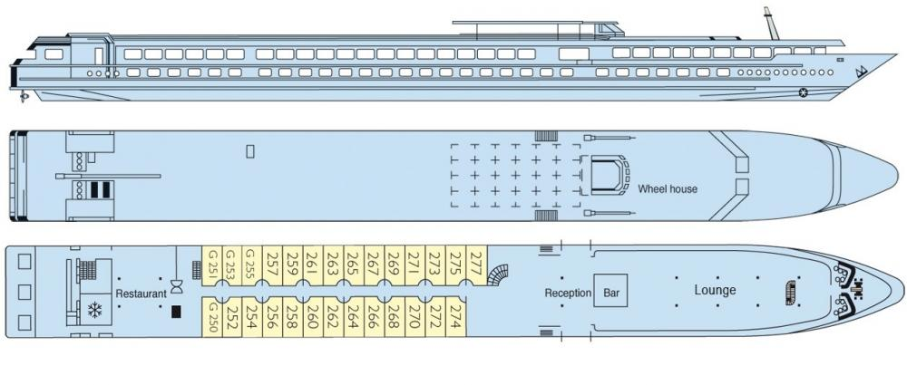 Deck plans of the MS Renoir