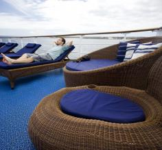 Lounging on the decks of the Galapagos Legend