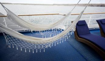 Hammocks on the Legend. I advise not sitting in them while the ship is moving