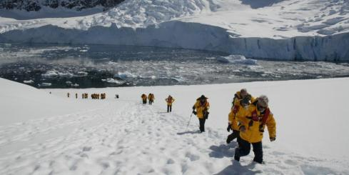 Hiking around Antarctica