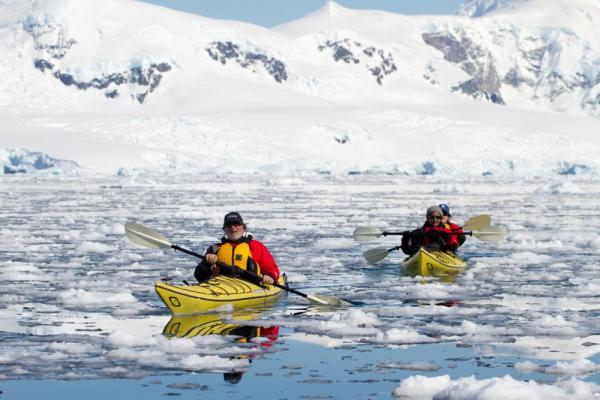 Kayaking around Antarctica