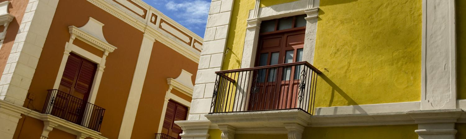 Colorful buildings of Campeche