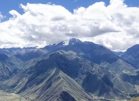The scenic Peruvian Andes