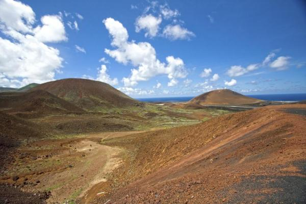 The dramatic landscape of Ascension Island