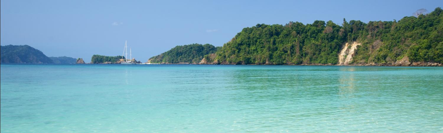 Sailing the turqoise waters of the Mergui Archipelago