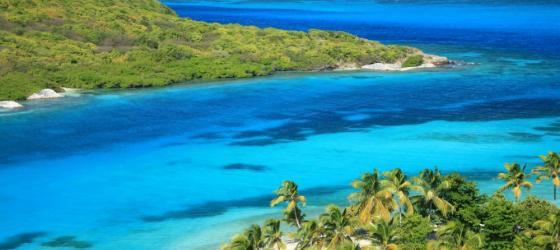 Unspoiled beaches and pristine coves in the Caribbean