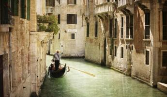 The sprawling canals of Venice