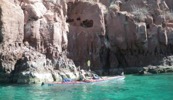 Kayaking on Espiritu Santo Island