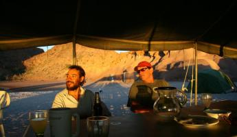 Sunset dinner on Espiritu Santo Island