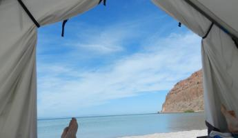 The view from our tent on Espiritu Santo Island