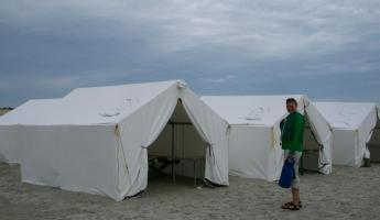 Our camp on Magdalena Island