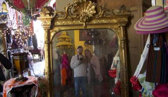 Antique mirror at the Hotel California in Todos Santos