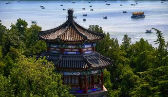Aerial View of the Summer Palace in Beijing