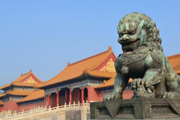 Statue in the Forbidden City, Beijing