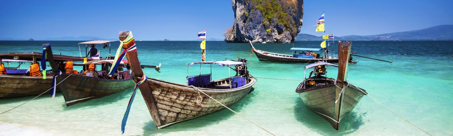 Boats on a Phuket beach