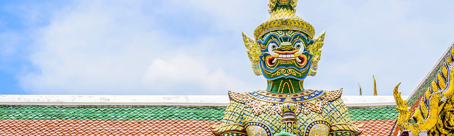 Traditional Thai architecture and decor