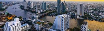 Aerial view of the city of Bangkok