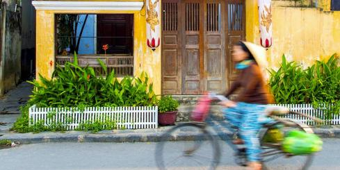 Biking the streets of Hoi An, Vietnam
