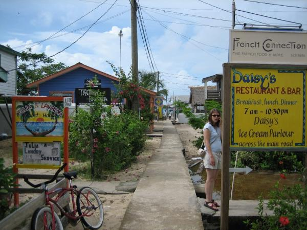 "Walking ""main street"" in Placencia"