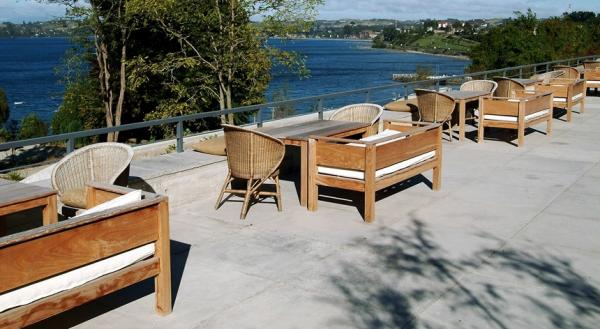 Terrace at Hotel Patagonico