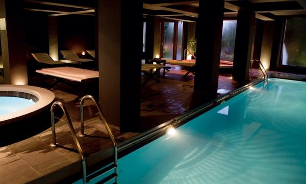 Heated pool at Hotel Patagonico