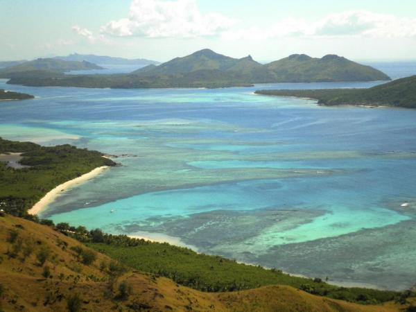 Sail the crystal waters of the South Pacific reef system