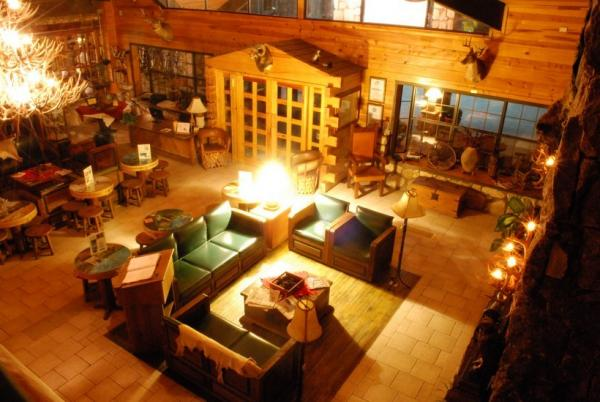 An overhead view of the Best Western Creel's lounge
