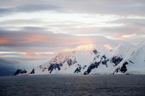 Antarctic sunset