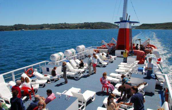 Relax on board the Skorpios II as you sail Chilean Patagonia