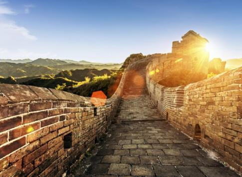 Great Wall of China in the sunshine