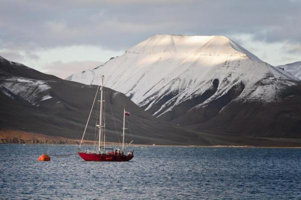 Sailboat in Svalbard, Norway