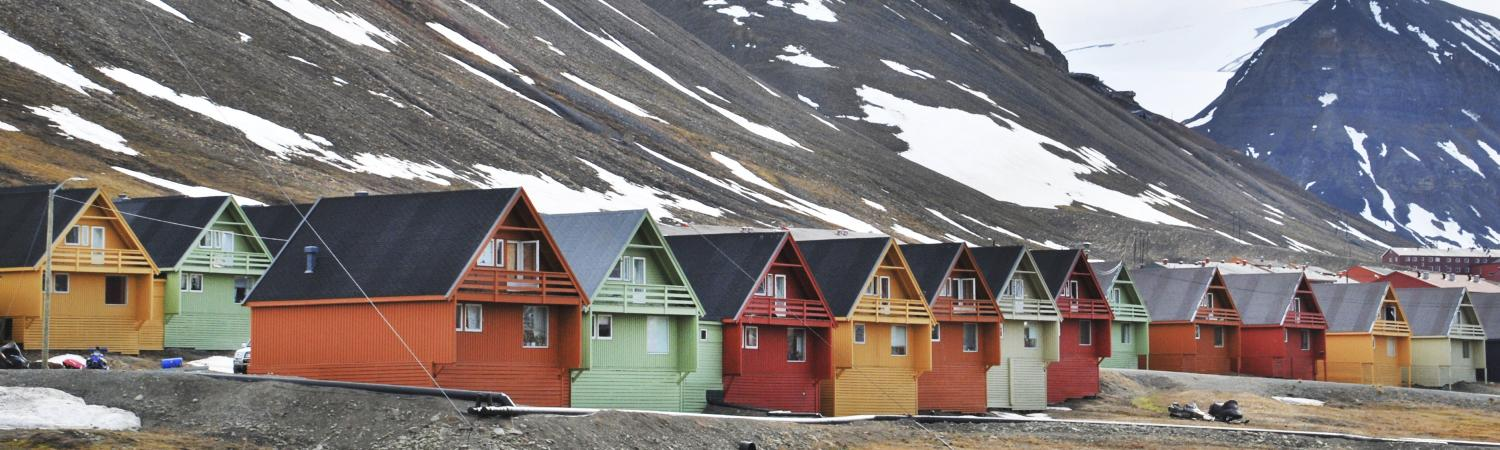 Colorful homes in Longyearbyen, Svalbard