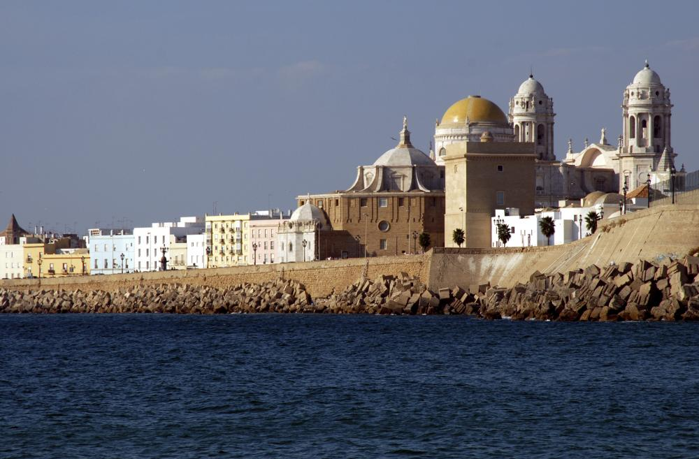 The seafront of Cadiz