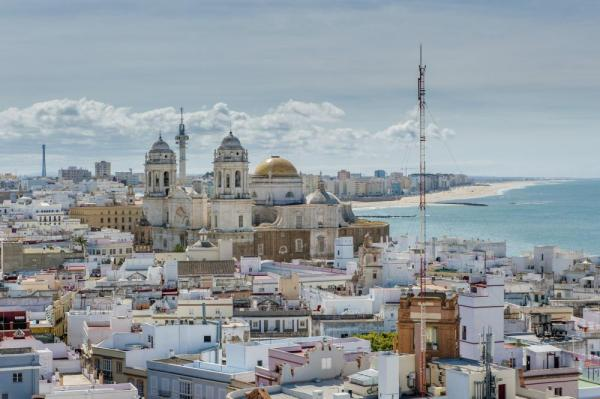 The beautiful port city of Cadiz, Spain