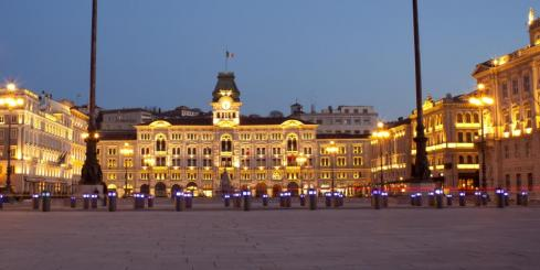 The main plaza of Trieste